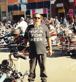 'will fuck for beer' shirt